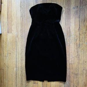 J.CREW Strapless, Velvet Dress